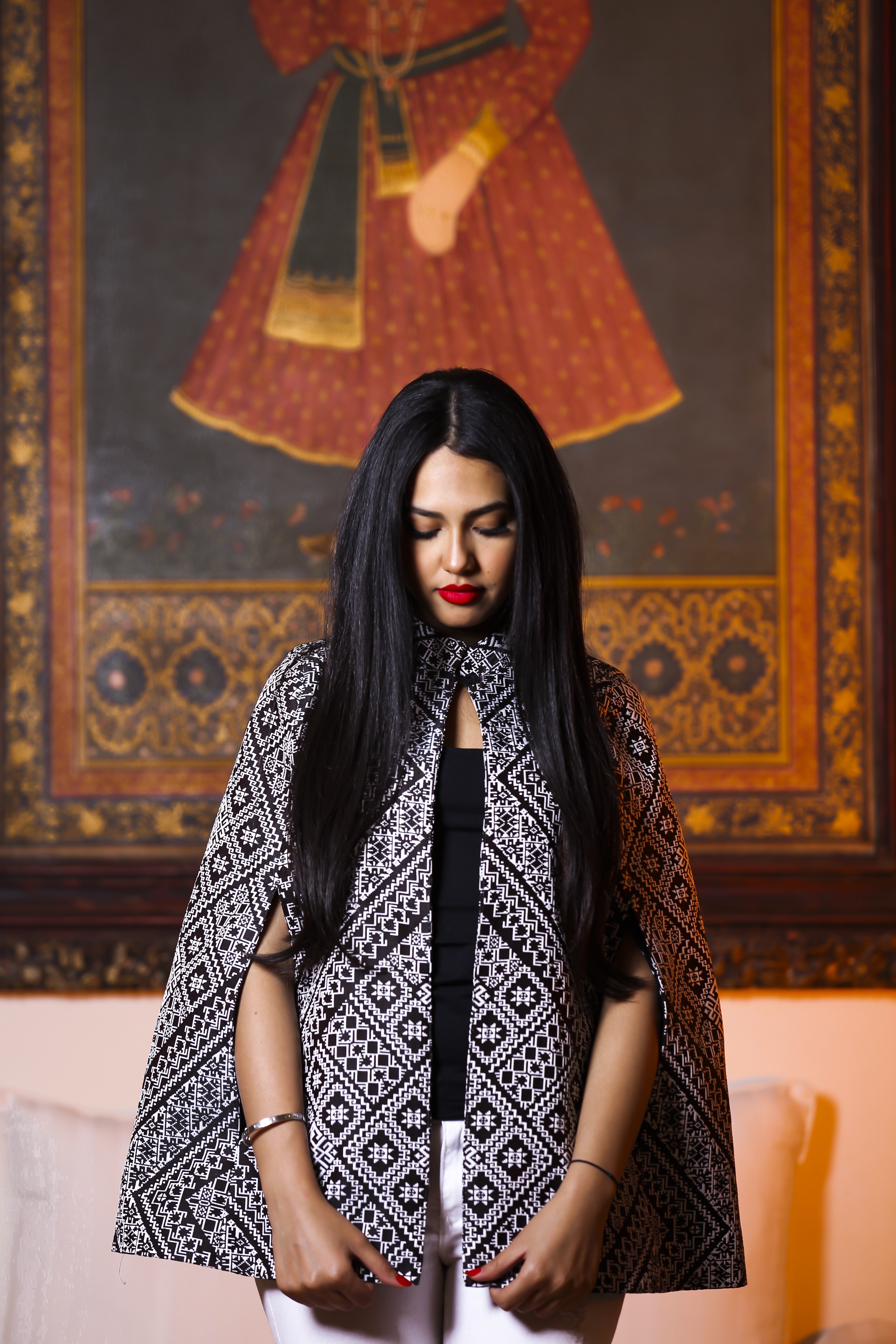 Manal Benchlikha Wearing Amira Cape From Hanout Boutique