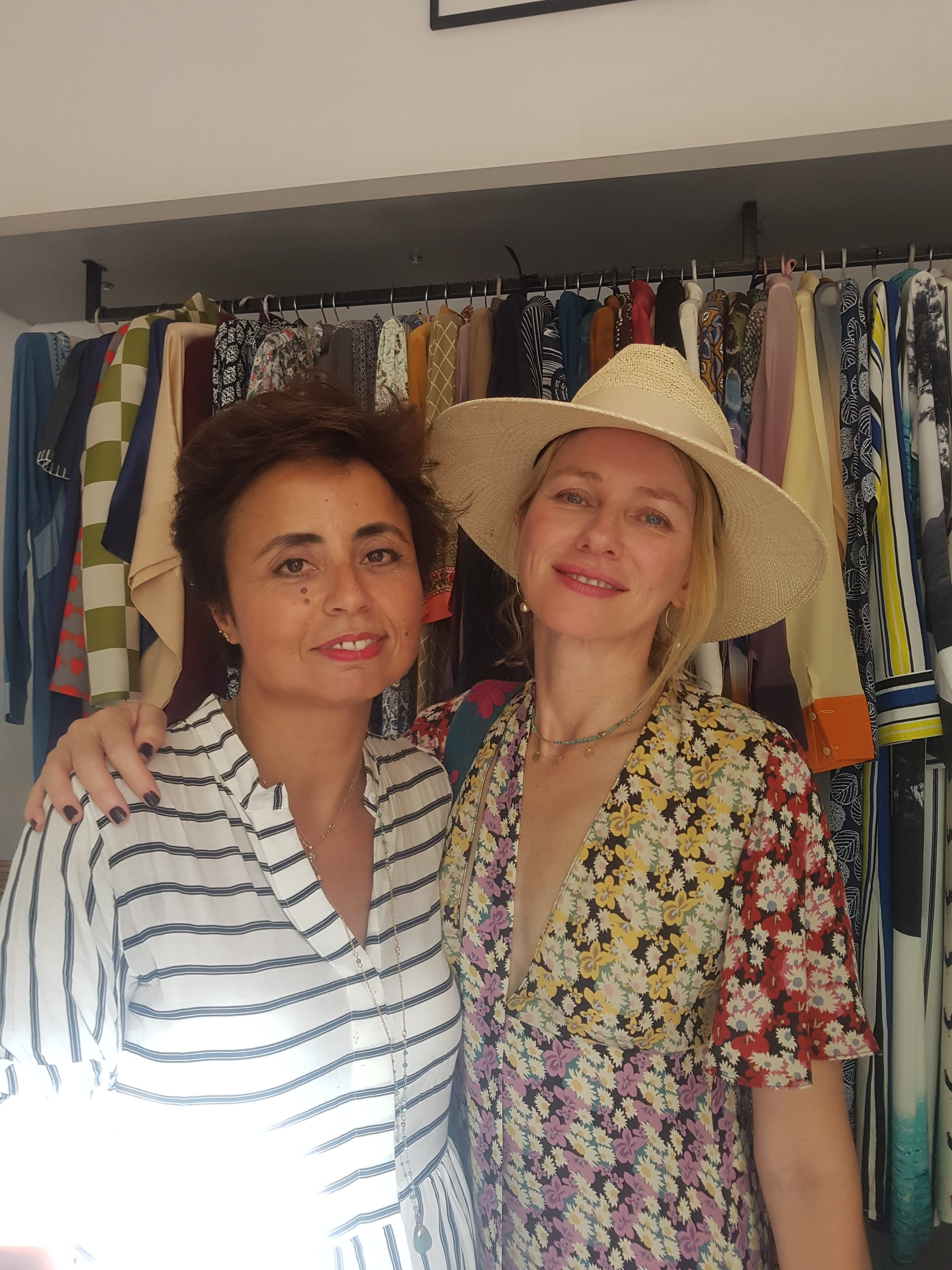 Naomi Watts with Meriem Rawlings at Hanout Boutique