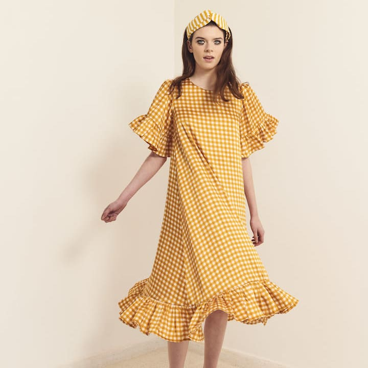 Dress with golden yellow - Women - Summer dress
